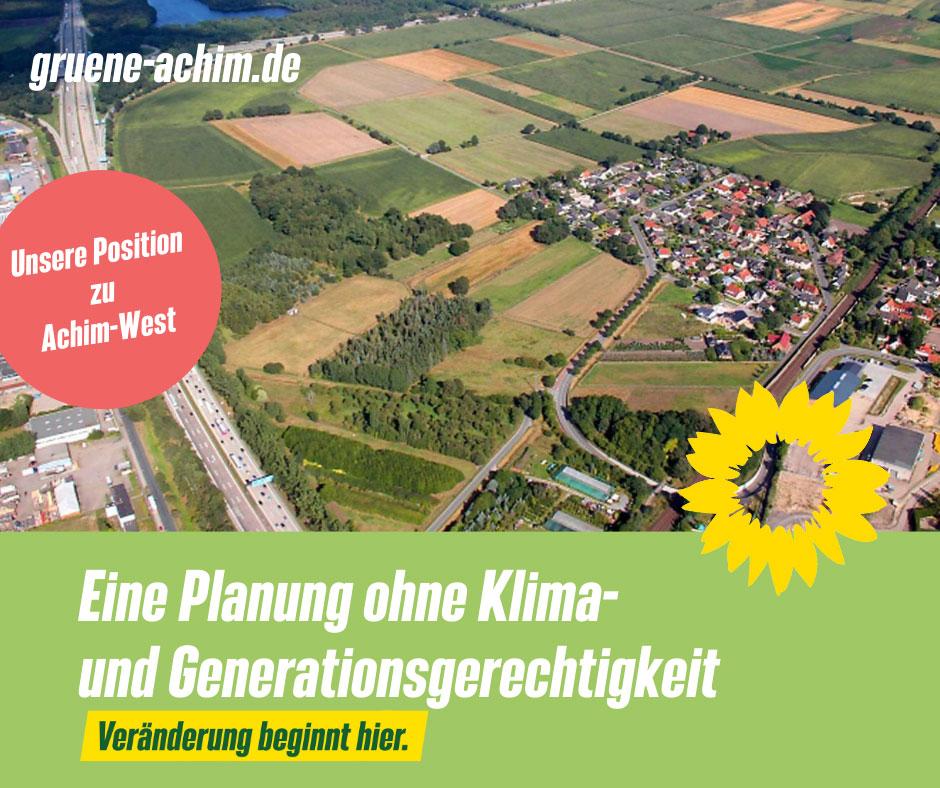 Positionen zu Achim-West