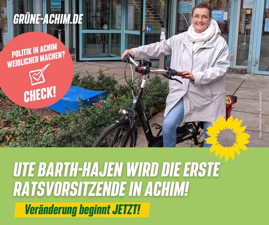 Ute Barth-Hajen wird erste Ratsvorsitzende in Achim